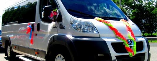 Микроавтобус на свадьбу Peugeot Boxer